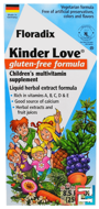 Floradix, Kinder Love, Children's Multivitamin Supplement, Gluten Free Formula, Flora, 8.5 fl oz, 250 ml
