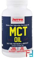 MCT Oil, Jarrow Formulas, 1000 mg, 180 Softgels