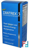 Zantrex-3, Rapid Weight Loss, Zoller Laboratories, 84 Capsules