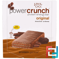 Power Crunch Protein Energy Bar, Original, Mocha Creme, PowerBar, 12 Bars, 1.4 oz (40 g)  Each
