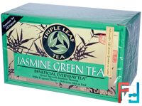 Jasmine Green Tea, Triple Leaf Tea, 20 Tea Bags,1.4 oz, 40 g