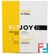 Protein Bar, Grandma's Lemon Square, FITJOY, 12 Bars, 2.18 oz (62 g) Each
