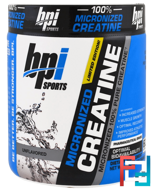 Micronized Creatine, Micronized 100% Pure Creatine, Unflavored, BPI Sports, 10.58 oz, 300 g