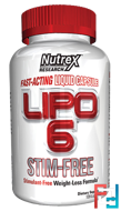 Lipo 6, Stim-Free, Nutrex Research Labs, 120 Liqui-Caps