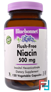 Flush-Free Niacin, 500 mg, Bluebonnet Nutrition, 120 Veggie Caps