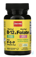 Methyl B-12 & Methyl Folate, Jarrow Formulas, 1,000 mcg / 400 mcg, Lemon Flavor, 100 Lozenges