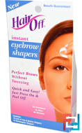 Instant Eyebrow Shapers Kit, HairOff, 34 Piece Kit