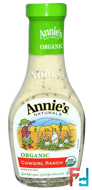 Organic, Cowgirl Ranch Dressing, Annie's Naturals, 8 fl oz (236 ml)