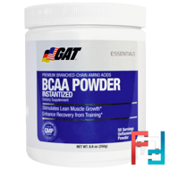 BCAA Powder, 2:1:1, GAT, Unflavored, 250 g