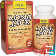 Long Jack, PowerMax 200, Natural Balance, 60 Veggie Caps