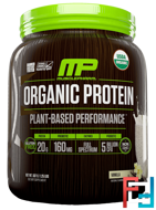 Organic Protein, Plant-Based Performance, Vanilla, MusclePharm Natural, 1.25 lbs (567 g)