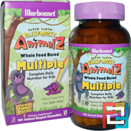 Rainforest Animalz, Whole Food Based Multiple, Natural Grape Flavor, Bluebonnet Nutrition, 180 Chewables