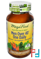 Men Over 40 One Daily, Iron Free, MegaFood, 90 Tablets