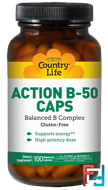 Action B-50 Caps, Country Life, 100 Veggie Caps