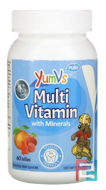 Multivitamin Complete + Mineral Formula, Fruit Flavors, Yum-V's, 60 Jelly Bears