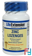 Zinc Lozenges, Natural Citrus-Orange Flavor, Life Extension, 60 Veggie Lozenges