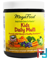 Kids Daily Multi, MegaFood, 1.8 oz, 49.8 g