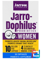 Jarro-Dophilus Probiotics, Jarrow Formulas, 10 Billion, For Women, 30 Capsules