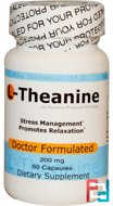 L-Theanine, Advance Physician Formulas, Inc., 200 mg, 60 Capsules