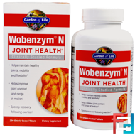 Wobenzym N, Joint Health, Wobenzym, 200 Enteric-Coated Tablets