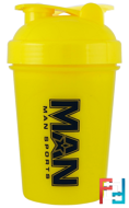 Shorty Shaker, Yellow, MAN Sports, 16 oz
