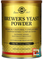 Brewer's Yeast Powder, Solgar, 400 g