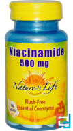 Niacinamide, 500 mg, Nature's Life, 100 Tablets