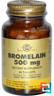 Bromelain, Solgar, 500 mg, 60 Tablets