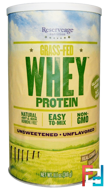 Grass-Fed Whey Protein, Unflavored, ReserveAge Nutrition, 11.1 oz (316 g)