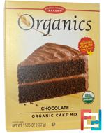 Organics, Cake Mix, Chocolate, European Gourmet Bakery, 15.25 oz (432 g)
