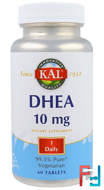DHEA, KAL, 10 mg, 60 Tablets