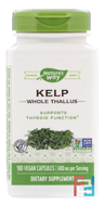 Kelp, Nature's Way, 600 mg, 180 Veggie Capsules