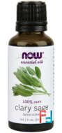 Essential Oils, Clary Sage, Now Foods, 30 ml