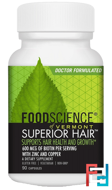 Superior Hair, FoodScience, 90 Capsules