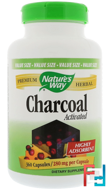 Charcoal, Activated, 280 mg, Nature's Way, 360 Capsules