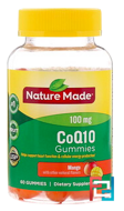 CoQ10 Adult Gummies, Mango, Nature Made, 60 Gummies