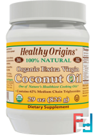 Organic Extra Virgin Coconut Oil, Healthy Origins, 29 oz (822 g)