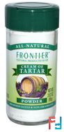 Cream of Tartar, Powder, Frontier Natural Products, 3.52 oz, 99 g