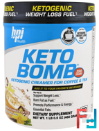 Keto Bomb, Ketogenic Creamer For Coffee & Tea, BPI Sports, 1 lbs 0.5 oz, 468 g