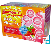 1,000 mg Vitamin C, Raspberry, 30 Packets, Emergen-C, 9.1 g