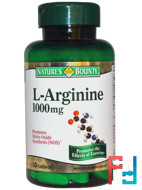 L-Arginine, Nature's Bounty, 1000 mg, 50 Tablets