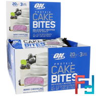 Protein Cake Bites, Optimum Nutrition, Berry Cheesecake, 12 Bars, 63 g