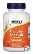 Pumpkin Seed Oil, 1000 mg, Now Foods, 100 Softgels