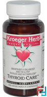 Thyroid Care, Kroeger Herb Co, 100 Veggie Caps