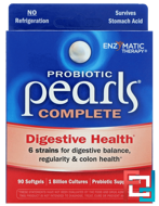 Probiotic Pearls Complete, Enzymatic Therapy, 90 Softgels