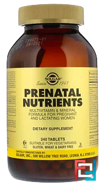 Prenatal Nutrients, Multivitamin & Mineral, Solgar, 240 Tablets
