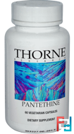 Pantethine, Thorne Research, 60 Vegetarian Capsules