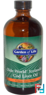 Olde World Icelandic Cod Liver Oil, Lemon Mint Flavor, Garden of Life, 8 fl oz, 236 ml
