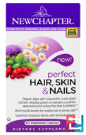 Perfect Hair, Skin & Nails, New Chapter, 60 Veggie Caps