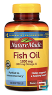 Fish Oil, Nature Made, 1200 mg, 100 Liquid Softgels